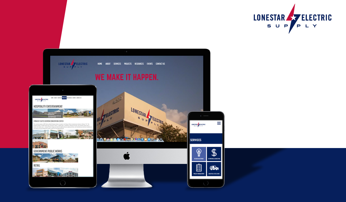 Lonestar Electric Supply Launches New Company Website Designed and Developed by Silk Software