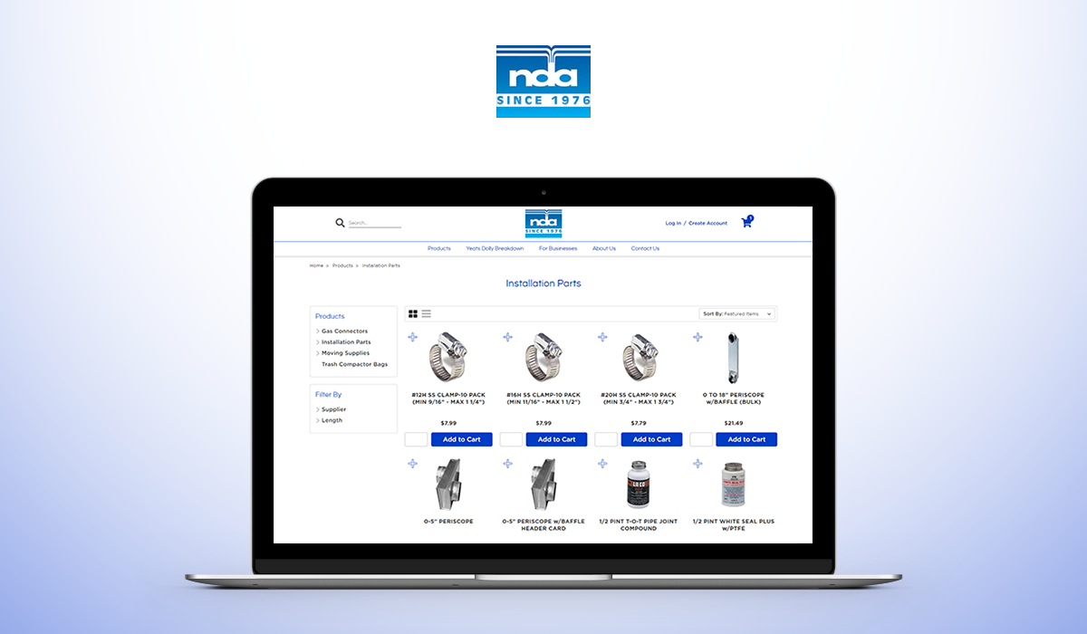 NDA Distributors Launches an Optimized B2B eCommerce Site with Silk on the BigCommerce Platform